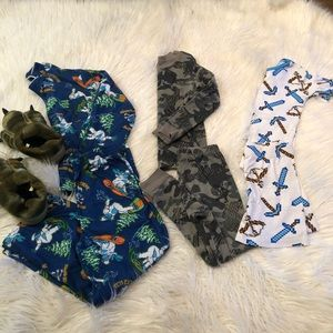 Other - Boys pajama and slippers bundle